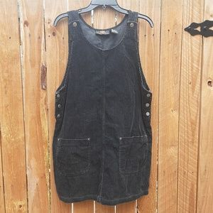 Vintage style overall corduroy dress